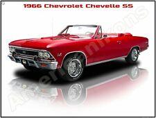 1966 Chevrolet Chevelle SS Convertible New Metal Sign: Pristine Restoration