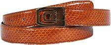 New Mens Genuine Real SNAKE SKIN Cognac/Gold Nice Classic 30mm Dressy Belt