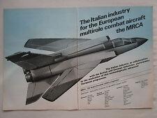 9/1974 PUB AERITALIA MRCA TORNADO ITALIAN AEROSPACE INDUSTRY / SAAB VIGGEN AD