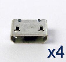 4x connecteur à souder micro USB type B femelle / female solder connector socket