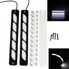 Pair 12V LED Car Head Driving Light Bar White DRL Daytime Fog Lamp + Tape Screw