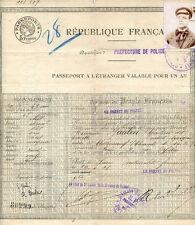 PASSEPORT A L'ETRANGER VALABLE POUR UN AN - 1921, Artiste Lyrique. Alexandrie.