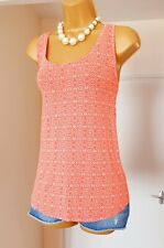 OLD NAVY Coral White Paisley Cotton Summer Holiday Cami Vest Top Blouse Size 14