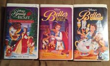 3 Disney Beauty & the Beast VHS Tapes - Enchanted Christmas, Belle's Magical Wol