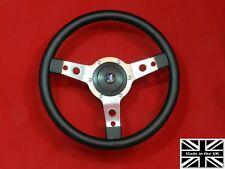 "14"" Classic Vinyl Steering Wheel & Hub. Fits Triumph Tr4-5-6"