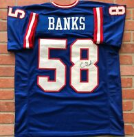 Carl Banks autographed signed jersey NFL New York Giants JSA COA Michigan State