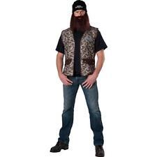 Adult Men's Duck Dynasty JASE Fancy Dress Halloween Costume w/ Beard, Wig