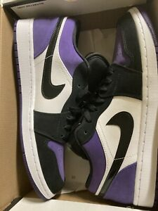 Size 10.5- Jordan 1 Low Court Purple - 553558-125