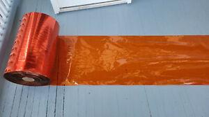 Cellophane Rolls Tango (orange) Plastic Wrap 135lb 0.9mil XSC Food Grade