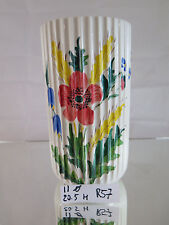 VASO IN CERAMICA VINTAGE A FIORI Lyngby porcelæn Danmark vase HAND PAINTED R57