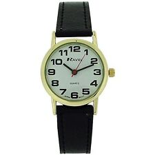 Ravel Ladies Large Dial Clear White Face GILT R0105.06.2A QUALITY