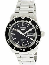 Seiko Men's 5 Automatic SNZH55K Silver Stainless-Steel Self Wind Fashion Watch