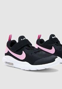 Kids Nike Air Max Oketo (PSV) Trainers AR7424 001 Black/Pink Size UK 10_11