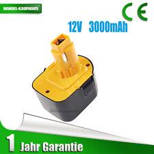 12V 3000mAh 36Wh NiMH Akku für Dewalt 397745-01 DE9037 DE9074 DE9501 DW9072 NEU