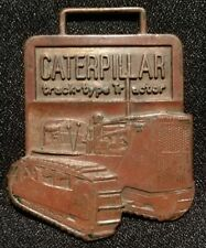 CATERPILLAR TRACK TYPE TRACTOR WATCH FOB MEDAL COIN TOKEN CAT KEYCHAIN