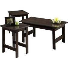 NEW 3 Piece Coffee Table Side Tables Set in Espresso Cherry by Sauder SHIPS FREE