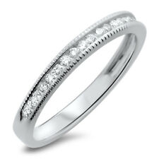 18k White Gold F/VS 0.20ct Channel Set Round Diamonds Half Eternity Wedding Ring
