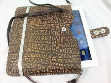 Croton Buffalo Leather iPad Case Shoulder Bag Lady Women Business Holiday Gift