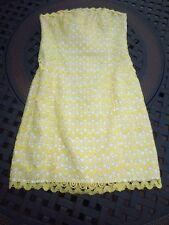 Lilly Pulitzer ~ Lakeland ~ Starfruit Yellow Crochet Lace Dress ~ Size 0
