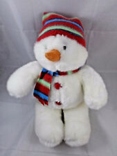 Applause Snowman Plush Scarf & Hat 14""