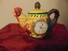 Ceramic Rooster Chicken Decorative Pitcher With Clock
