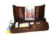 New! American Mahjong Set Coffee Color Soft Bag 4 Color Pushers/Racks