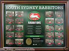 SOUTH SYDNEY RABBITOHS THE HISTORICAL SERIES LTD ED OFFICIAL NRL PRODUCT FRAMED