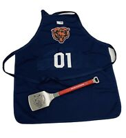 Chicago Bears Mesh Grilling Apron & Hawks Spatula NWT Authentic Bundle Licensed