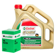 Oil Filter Service Kit With Castrol Edge FST Fully Synthetic 5W30 Engine Oil 4L