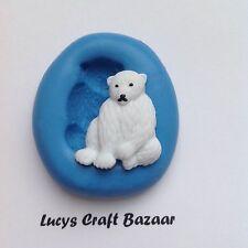 Silicone Mould Polar Bear Xmas Winter Festive Cupcake Topper Sugarpaste Fondant
