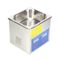 Stainless Steel Multipurpose Ultrasonic Cleaner Basket Heated  Heater w/Timer DI