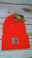 Carhartt Acrylic Knit Hat Bright Orange Fits Most Hunting Construction Beanie