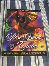 RARE ROSE BOWL PROGRAM USC VS TEXAS 1/4/06 GAME OF THE DECADE