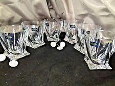 Crystal Glass Rocks Set of 6 Bohemian Tumblers Whiskey Cognac Vodka 11oz/340ml