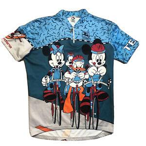 Vtg Giordana Team Mickey Mouse Disney Cycling Bike Jersey Medium bicycle shirt
