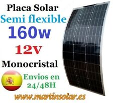 Panel placa solar 160w 12v flexible, modulo monocristalino.