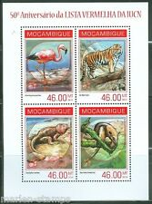MOZAMBIQUE 2014 50th ANNIVERSARY OF THE RED LIST OF ENDANGERED SPECIES SHEET
