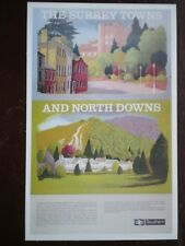POSTCARD SR POSTER - THE SURREY TOWNS & NORTH DOWNS