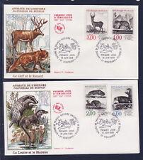 enveloppe 1er jour   faune animaux  Buffon  21  Montbard     1988