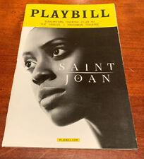 SAINT JOAN Broadway Opening Night Playbill - Condole Rashad! FREE US SHIPPING!