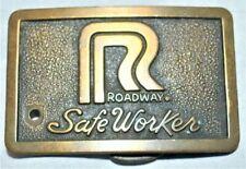 Roadway Safe Worker Belt Buckle BRASS Truck Safety Award