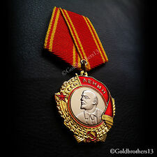 Order of Lenin Russian Medal and The Highest Award Medal of USSR Repro