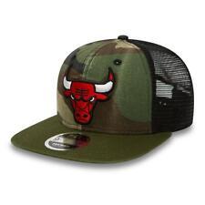NEW ERA 9FIFTY SNAPBACK CAP. WASHED CAMO CHICAGO BULLS