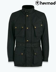 Belstaff Trialmaster Pro Wax Cotton Motorcycle Jacket - Black