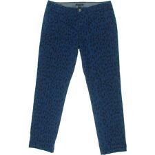 NEW Womens Stunning Tommy Hilfiger Catalonia Blue Animal Print Chino Pants AU 10