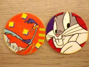 pogs collection MEGA FLIPPO bugs bunny bip bip SMITHS