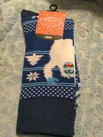 Rudolph Abominable Snowman Pair Of Crew Socks ( Size 10-13 ) - Christmas New