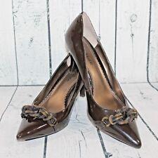 Kelly & Katie Sz 9M Black Pointy Toe Rope Knot Embellish High Heel Pump Shoes