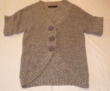 The Limited Sweater Button Down 1/4 or 1/2 Sleeve Color Silver Size XS **