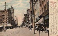 Postcard South Broad Street Trenton NJ 1907